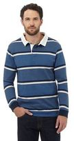 Maine New England Blue Highlight Striped Rugby Shirt