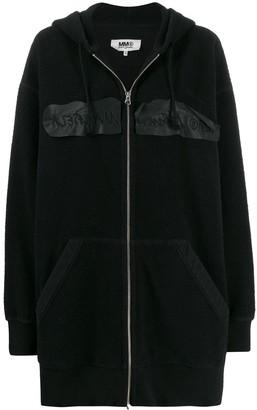 MM6 MAISON MARGIELA Inside-Out Embroidered Logo Hooded Jacket