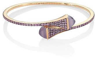 Marli Cleo By 18K Rose Gold & Violet Sapphire Bangle Bracelet