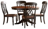Homelegance 5 Piece Countryside Round Table Set Wood/Antique Black