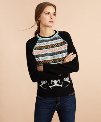 Brooks Brothers Stretch Merino Wool Skier Sweater