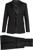 Dolce & Gabbana Peak-lapel wool and silk-blend tuxedo