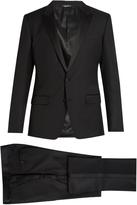 Dolce & Gabbana Peak-lapel wool and silk-blend tuxedo