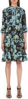 Gucci Floral-print ruffled silk-chiffon dress