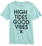 Hurley Boy's High Tides Good Vibes Graphic T-Shirt