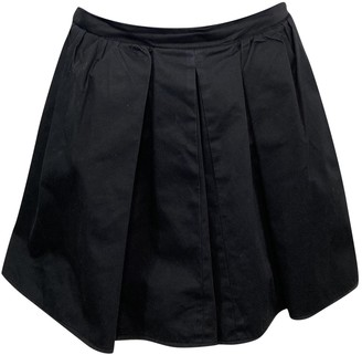 Carven Black Cotton Skirts