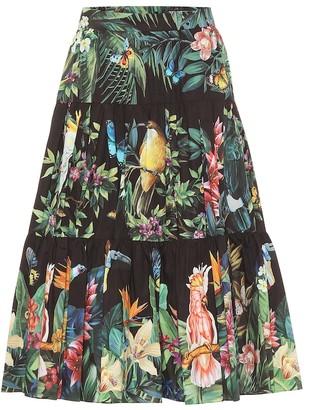 Dolce & Gabbana Printed cotton midi skirt