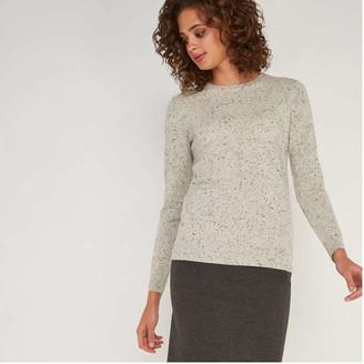 Joe Fresh Women's Cashmere Sweater, Light Grey Mix (Size XS)