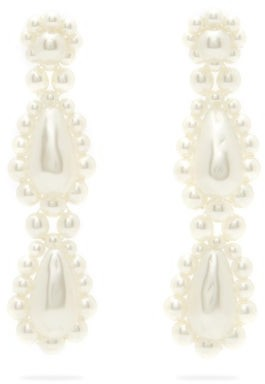 Simone Rocha Drop Faux-pearl Earrings - Pearl