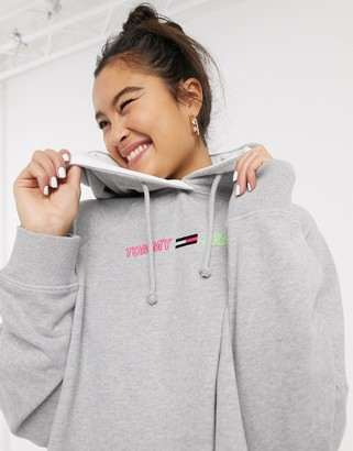 Tommy Jeans organic cotton hoodie dress with logo
