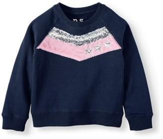 Aeropostale p.s.09 from Chevron Colorblock Fleece Sweatshirt (Little Girls & Big Girls)