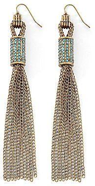 Nicole Miller nicole by Gold-Tone Tassel Earrings