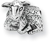 Black Bow Jewellery Company : Lamb Charm in Silver for 3mm Charm Bracelets