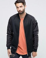 ONLY & SONS Bomber Sweat with Nylon Raglan Sleeve