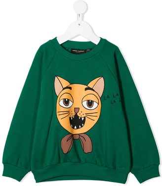 Mini Rodini Cat Choir cotton sweatshirt