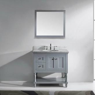 "Gracie Oaks Cicely 36"" Single Bathroom Vanity Set with Mirror Gracie Oaks"