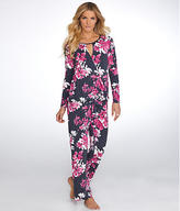 Midnight by Carole Hochman Bouquet Knit Pajama Set