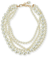 Lulu Frost Simulated Pearl Multi-Strand Necklace, 16""