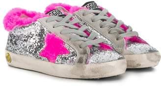 Golden Goose Kids Super Star glitter sneakers