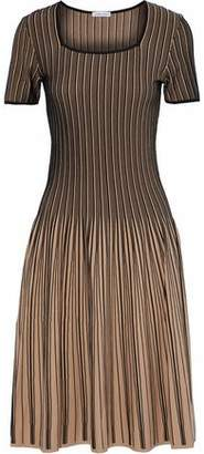 Tomas Maier Fluted Striped Stretch-knit Dress