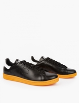 Adidas By Raf Simons Black and Orange Stan Smith Sneakers