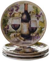Certified International Sanctuary Wine 4-pc. Salad Plate Set