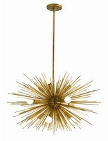 The Well Appointed House Arteriors Zanadoo Antique Brass Chandelier-Available in Two Different Sizes