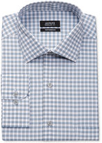 Alfani Men's Big and Tall Classic-Fit Mallard Blue Line Gingham Dress Shirt, Only at Macy's