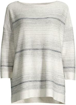 Lafayette 148 New York Ombre Linen-Blend Sweater