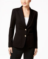 Tommy Hilfiger Two-Button Dot-Pattern Blazer