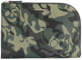 Alexander McQueen Camo Skull clutch - men - Leather - One Size