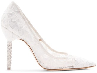 Sophia Webster Coco Embellished-Heel Lace Pumps
