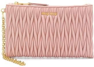Miu Miu quilted top zip wallet