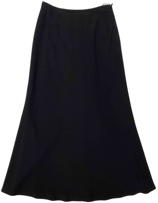 Escada Black Wool Skirt for Women Vintage