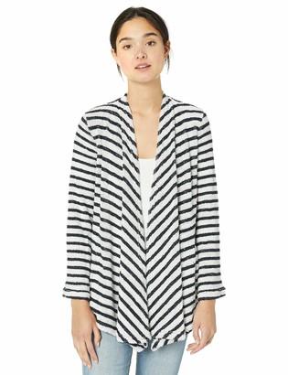 BB Dakota Women's just Your Stripe French Terry Knit Jacket