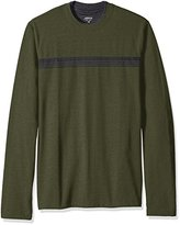 Arrow Men's Big and Tall Long Sleeve Stripe Crew Doubler Tee