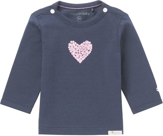 Noppies Baby Girls' G Tee ls Natick-67369 Longsleeve T-Shirt