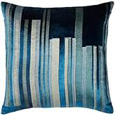 Kevin OBrien Kevin O'Brien Metallic-Stripe Velvet Pillow