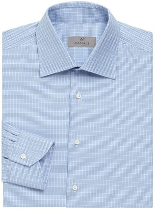 Canali Cotton Long-Sleeve Dress Shirt