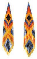 Forest of Chintz Orange Boho Earrings