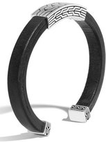 John Hardy Men's Classic Chain Sterling Silver & Leather Cuff