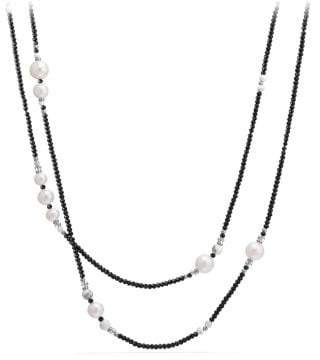 David Yurman Oceanica Tweejoux Necklace With Pearls And Black Spinel