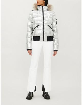 Goldbergh Aura metallic shell-down ski jacket