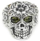 Unknown 925 Sterling Silver Flower Skull Eyes Mens Biker Ring 9W105 US Size 7 to 14