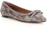 Donald J Pliner Beth Leopard-Print Suede Bow Detail Slip-On Flats