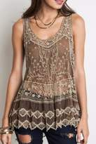 Umgee USA Lovely In Lace Tank