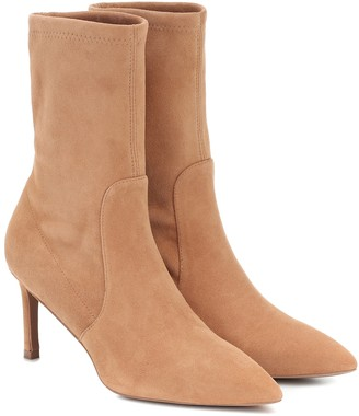 Stuart Weitzman Yvonne 75 suede ankle boots
