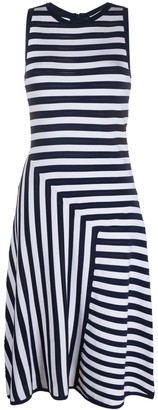 MICHAEL Michael Kors Geometric Stripe Day Dress