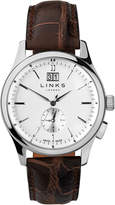 Links Of London Regent Mens Stainless Steel & Brown Leather Watch