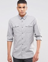 Selected Brushed Double Pocket Shirt